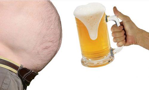 בדיחות על שמנים - כרס בירה
